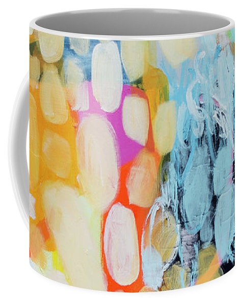 Abstract Coffee Mug featuring the painting Come To Bed by Claire Desjardins