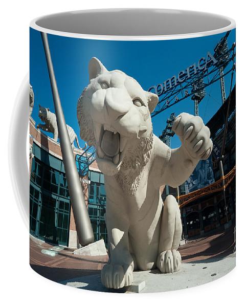 Baseball Coffee Mug featuring the photograph Comerica Park Entrance by Steven Dunn