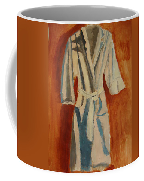 Comfortable Coffee Mug featuring the painting Comfort Calling by Deby Kalush