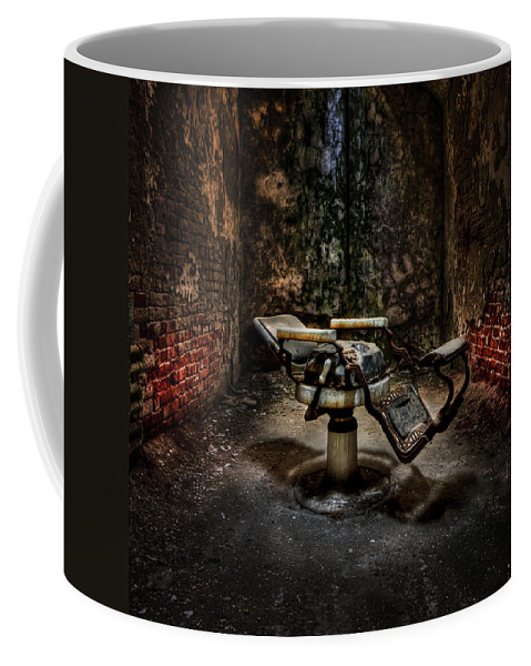 Chair Coffee Mug featuring the photograph Comfortably Numb by Evelina Kremsdorf