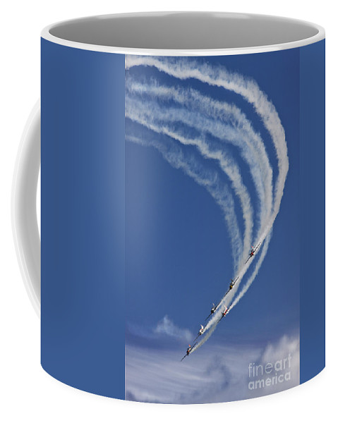 Aerostars Yak-50 Display Team Coffee Mug featuring the photograph Coming Back From Heaven by Angel Tarantella