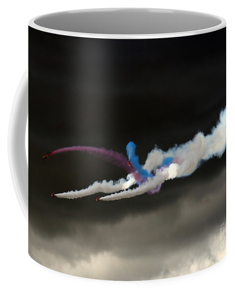 Red Arrows Coffee Mug featuring the photograph Coming Out From The Darkness by Angel Ciesniarska