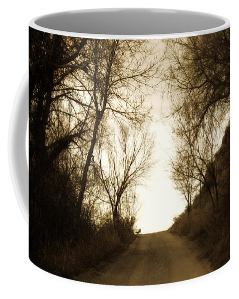 Rural Coffee Mug featuring the photograph Coming Up The Drive 3 by Marilyn Hunt