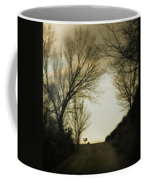 Rural Coffee Mug featuring the photograph Coming Up The Drive by Marilyn Hunt