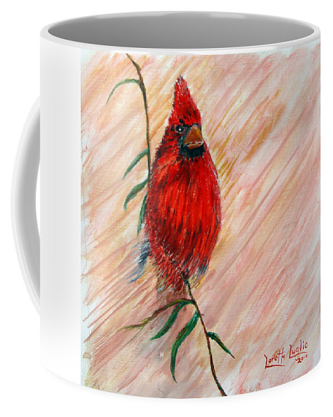Cardinal Coffee Mug featuring the painting Commander by Loretta Luglio