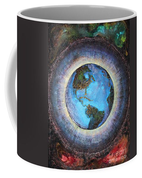 Farzali Babekhan Coffee Mug featuring the painting Common Ground by Farzali Babekhan