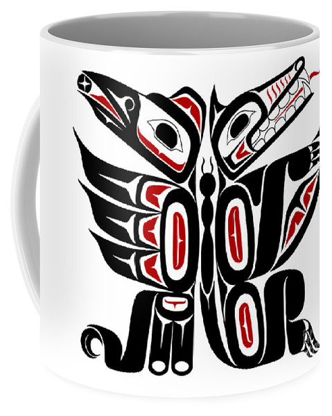 Abstract Coffee Mug featuring the digital art Communication by Lon French