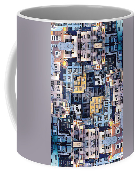 Apartments Coffee Mug featuring the photograph Community Of Cubicles by Phil Perkins