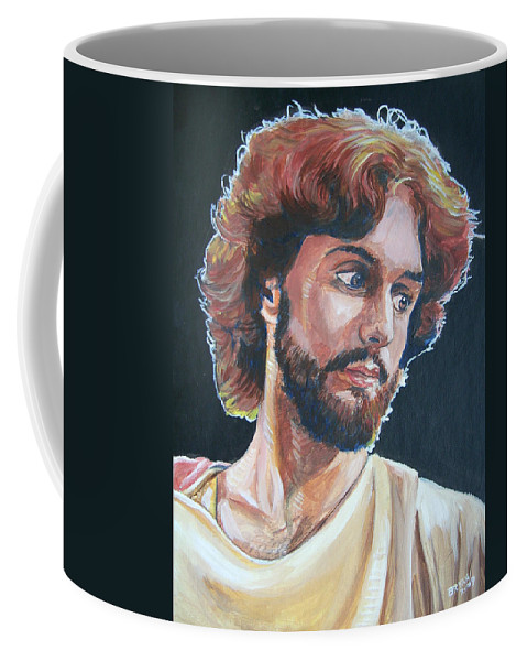 Jesus Christ Coffee Mug featuring the painting Compassionate Christ by Bryan Bustard