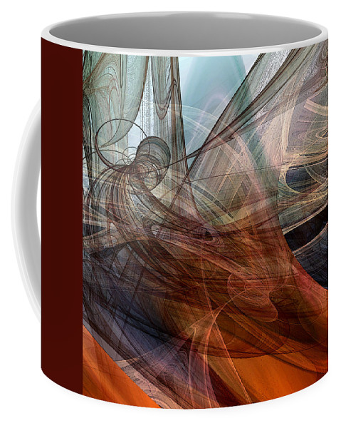 Abstract Coffee Mug featuring the digital art Complex Decisions by Ruth Palmer