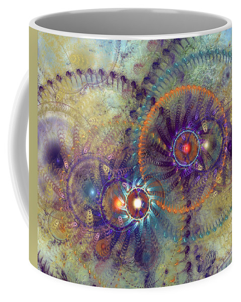 Abstract Coffee Mug featuring the digital art Complexity Is Worrisome by Casey Kotas