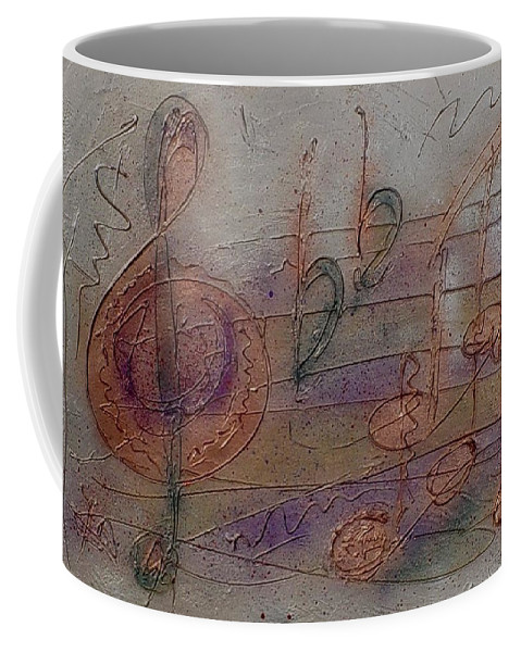 Impressionist Coffee Mug featuring the painting Composition in B Flat by Anita Burgermeister