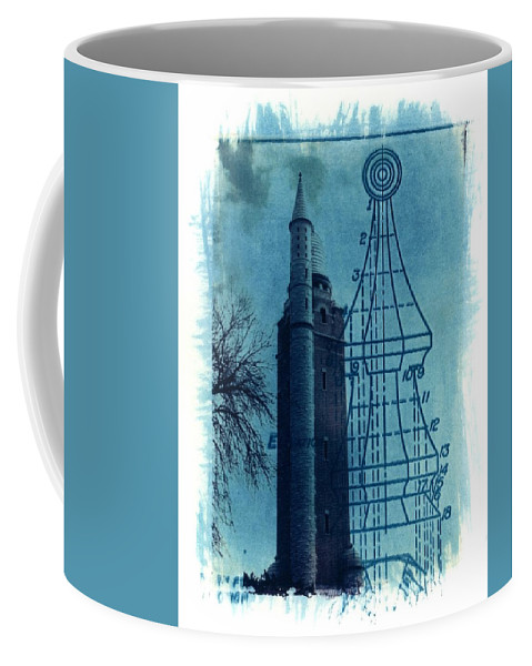 Alternative Process Photography Coffee Mug featuring the photograph Compton Blueprint by Jane Linders