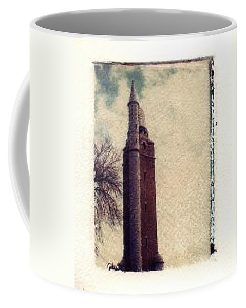 Polaroid Transfer Coffee Mug featuring the photograph Compton Water Tower by Jane Linders