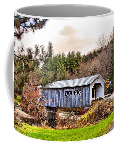 Bridge Coffee Mug featuring the photograph Comstock Bridge Montgomery by Deborah Benoit