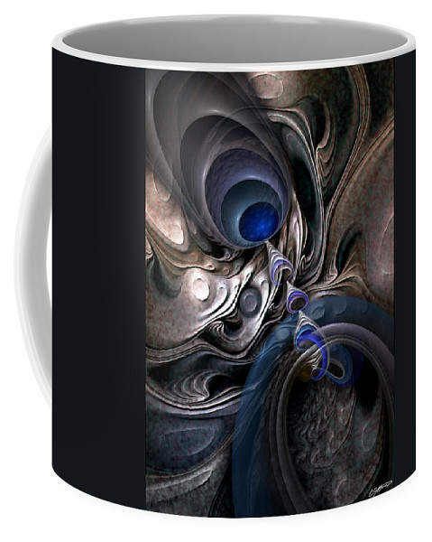 Abstract Coffee Mug featuring the digital art Concatenations by Casey Kotas