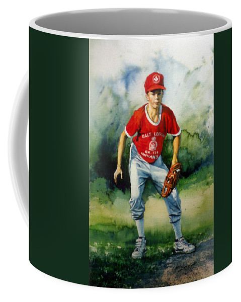Sports Art Coffee Mug featuring the painting Concentration by Hanne Lore Koehler