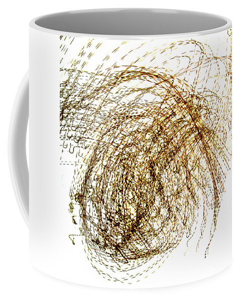 Abstract Coffee Mug featuring the photograph Conception by Henri Hadida