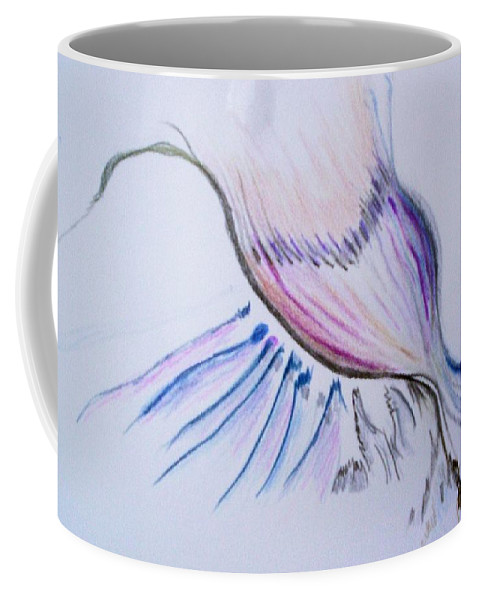 Abstract Painting Coffee Mug featuring the painting Conception by Suzanne Udell Levinger