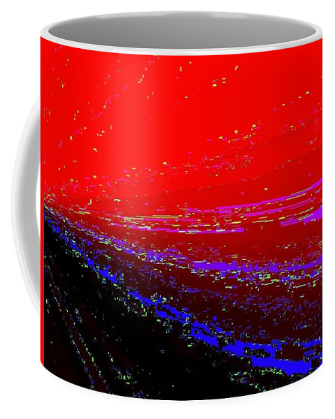 Abstract Coffee Mug featuring the digital art Conceptual 13 by Will Borden