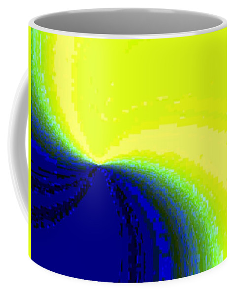 Abstract Coffee Mug featuring the digital art Conceptual 14 by Will Borden