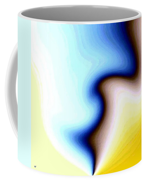 #faceprofileabstract Coffee Mug featuring the digital art Conceptual 7 by Will Borden