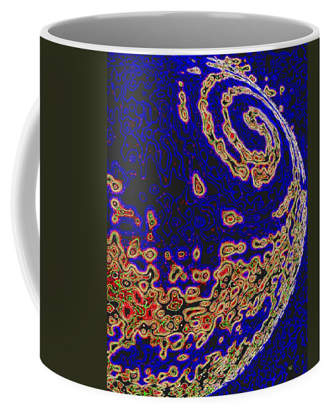 Abstract Coffee Mug featuring the digital art Conceptual 9 by Will Borden