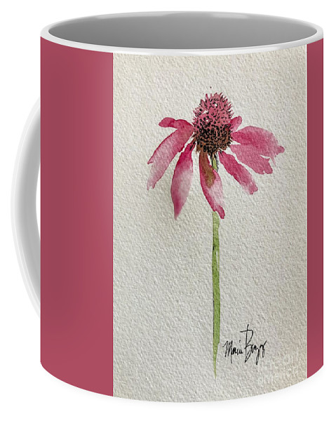 Coneflower Coffee Mug featuring the painting Coneflower by Marcia Breznay