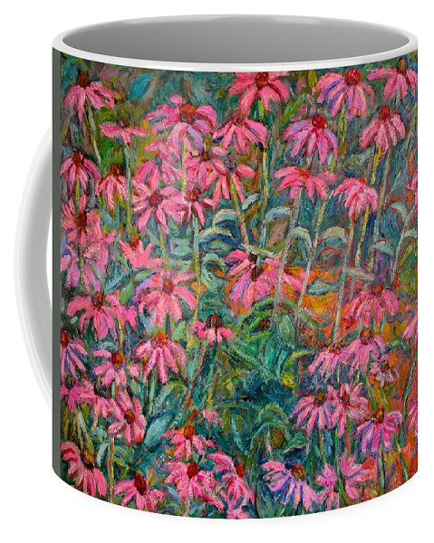 Kendall Kessler Coffee Mug featuring the painting Coneflowers by Kendall Kessler
