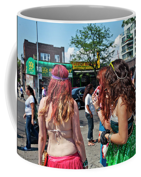 Coney Island Coffee Mug featuring the photograph Coney Island Girls by Madeline Ellis