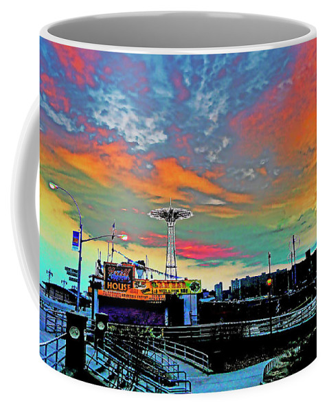 Coney Island Coffee Mug featuring the photograph Coney Island In Living Color by Kendall Eutemey