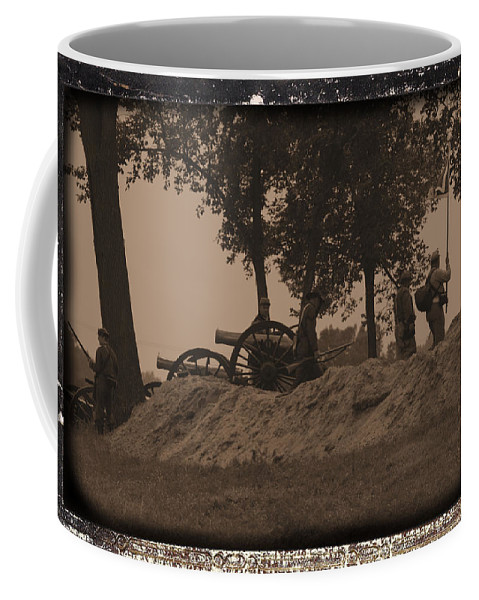 Confederate Artillery Battery Coffee Mug featuring the photograph Confederate Artillery Battery by Tommy Anderson