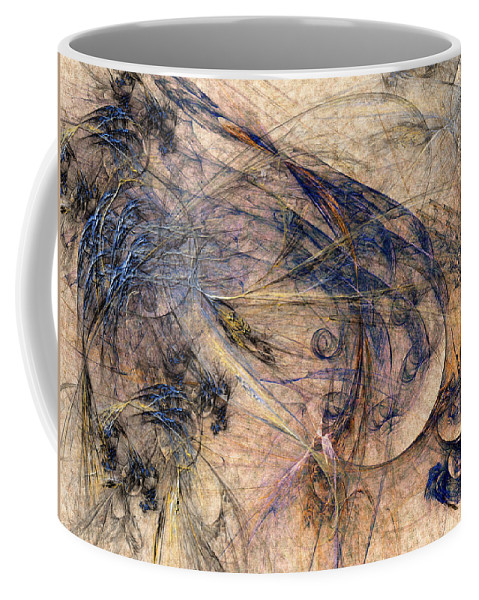 Abstract Coffee Mug featuring the digital art Conflicted by Casey Kotas