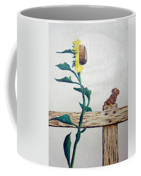 Still Life Coffee Mug featuring the painting Confluence by A Robert Malcom