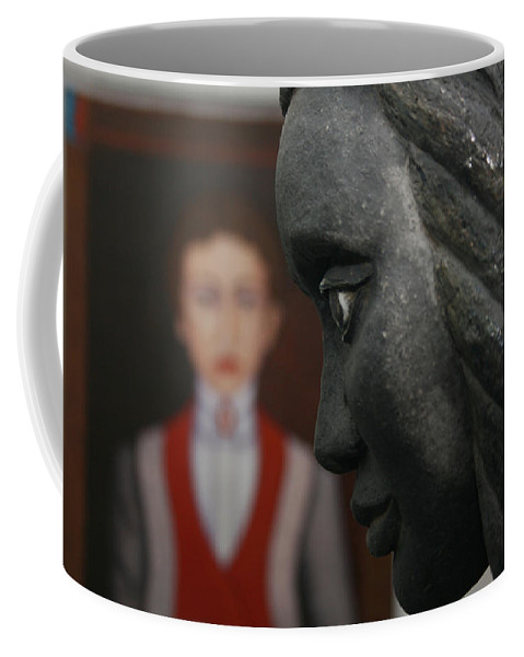 Pais Abril Coffee Mug featuring the photograph Confrontation Of Two Artworks by Madalena Lobao-Tello