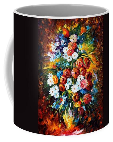 Afremov Coffee Mug featuring the painting Congradulation by Leonid Afremov