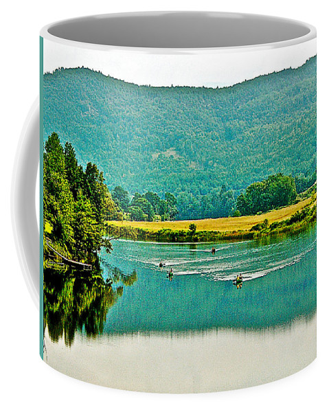 Connecticut River Between Vermont And New Hampshire Coffee Mug featuring the photograph Connecticut River Between New Hampshire And Vermont by Ruth Hager