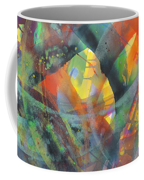 Abstract Coffee Mug featuring the painting Connections by Lucy Arnold
