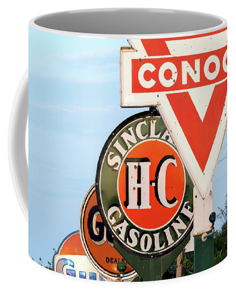 Gulf Coffee Mug featuring the photograph Conoco Sign 081117 by Rospotte Photography