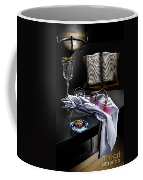 Still Life Painting Coffee Mug featuring the painting Consecrated by Reggie Duffie