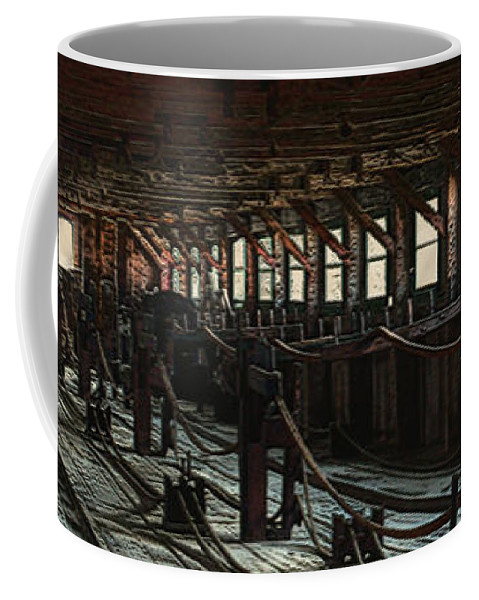 Historical Coffee Mug featuring the painting Consigned To Hell by RC deWinter