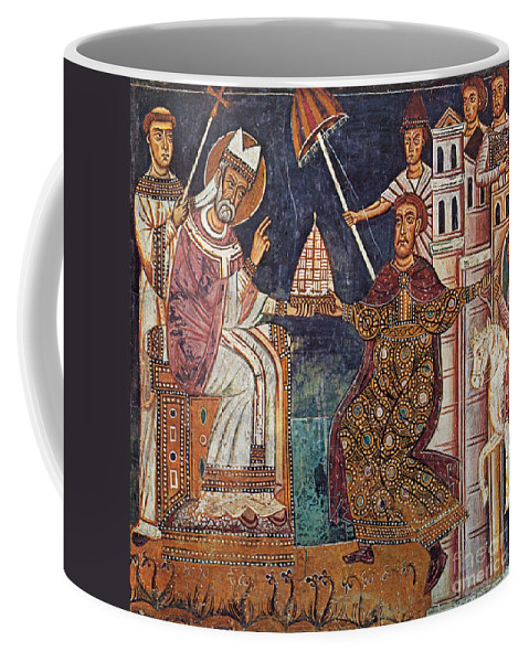 13th Century Coffee Mug featuring the painting Constantine I (c280-337) by Granger