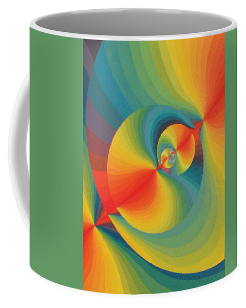 Oil Coffee Mug featuring the painting Constellation Of Planets by Peter Antos