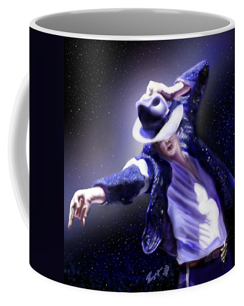 Michael Jackson Coffee Mug featuring the painting Constellation - Slot 89 by Reggie Duffie
