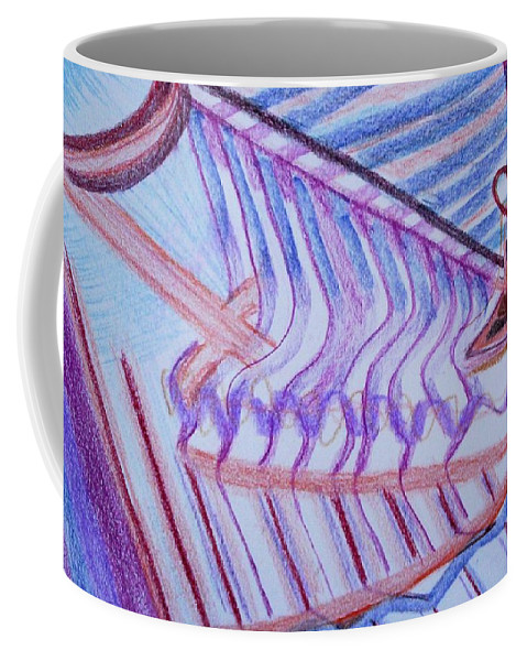 Abstract Coffee Mug featuring the painting Construction by Suzanne Udell Levinger