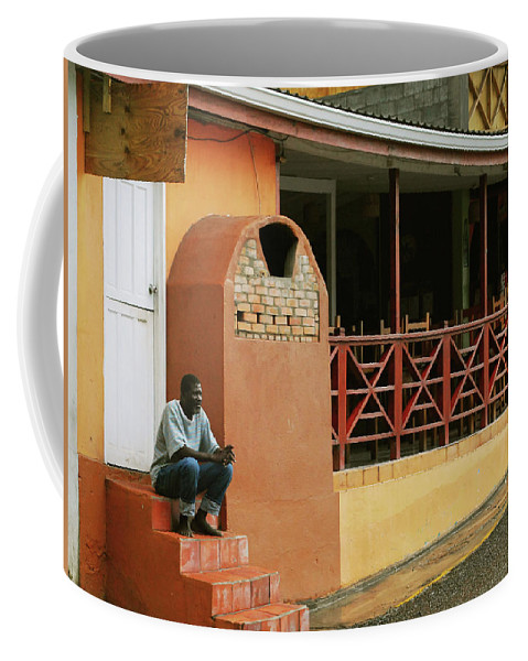 St. Lucia Coffee Mug featuring the photograph Contemplating Life by Gary Wonning
