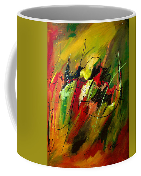 Abstract Coffee Mug featuring the painting Contemplating Perseverance by Ruth Palmer