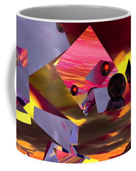 Coffee Mug featuring the digital art Contemplating The Multiverse. by David Lane