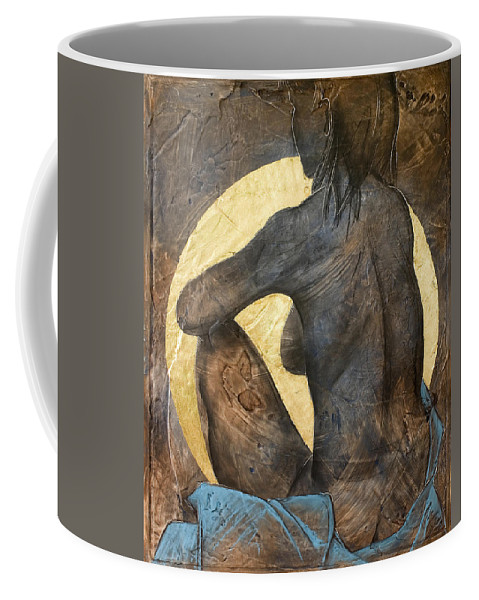 Nude Coffee Mug featuring the painting Contemplation by Richard Hoedl