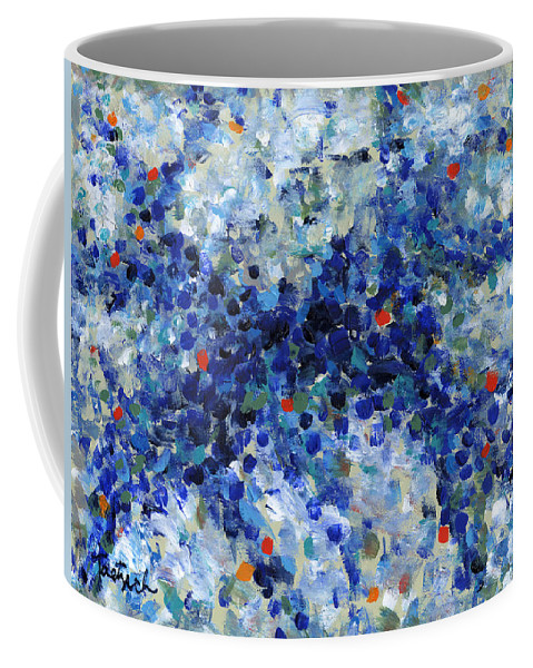 Abstract Coffee Mug featuring the painting Contemporary Art Forty-nine by Lynne Taetzsch